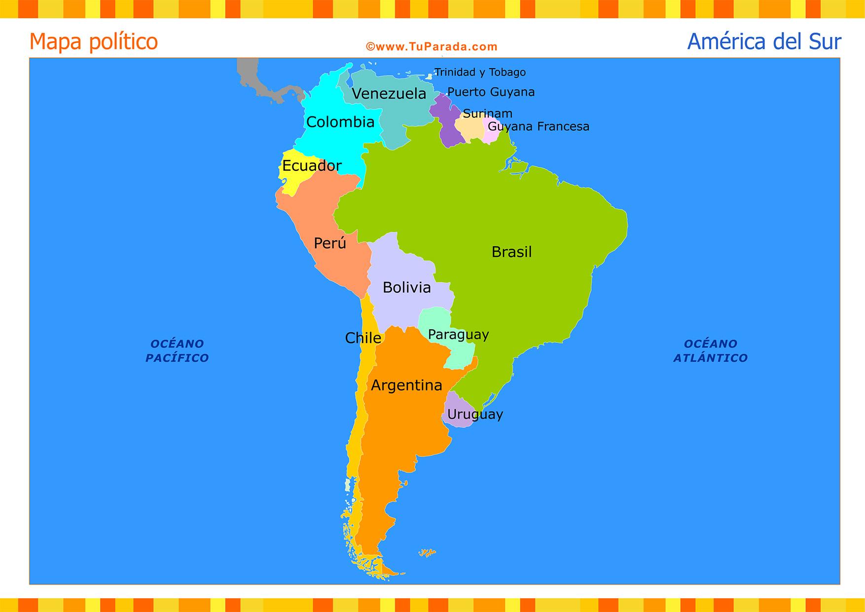 Juegos De Geografía Juego De Capitales De Países De América Del - America mapa juego